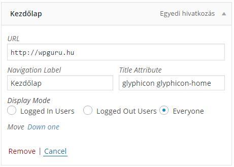 Hogyan tegyük látványosabbá a WordPress menüt gliyphicon-al?